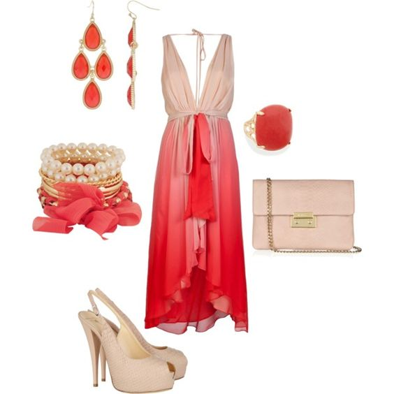 Coral and Blush, created by Leah Syntax on Polyvore
