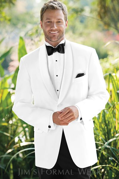 Classic Shawl White Dinner Jacket. Always in style.  Always sophisticated. And always guaranteed to to be a terrific tuxedo choice for the majority of formal events you'll attend. Find it at your Jim's Formal Wear Retailer...