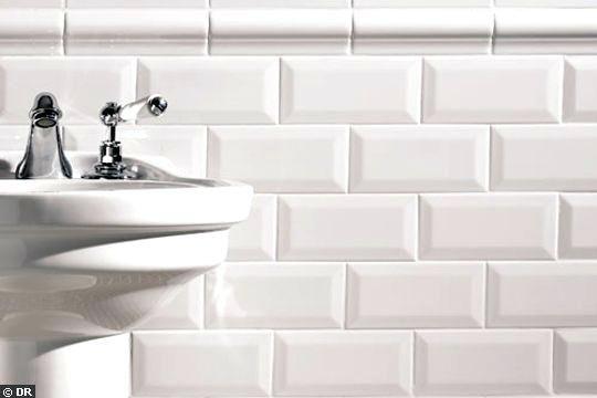 Carrelage Metro Blanc Mat Vintage Bathroom White Subway Tile Bathroom