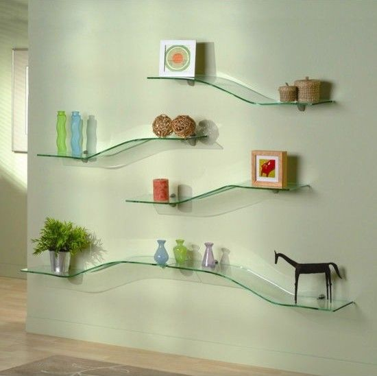 Decorate your home with glass shelves!