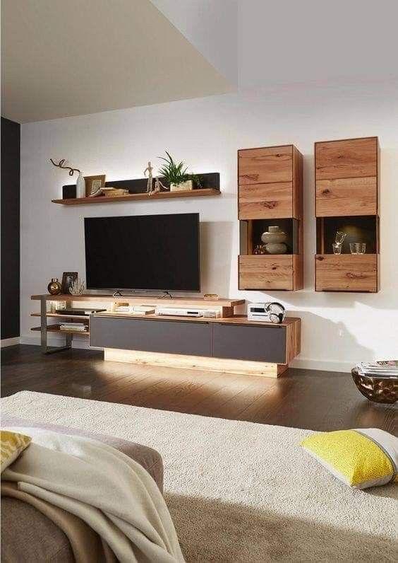 Modern Tv Wall Designs Wohnwand Braun Einrichten Und Wohnen
