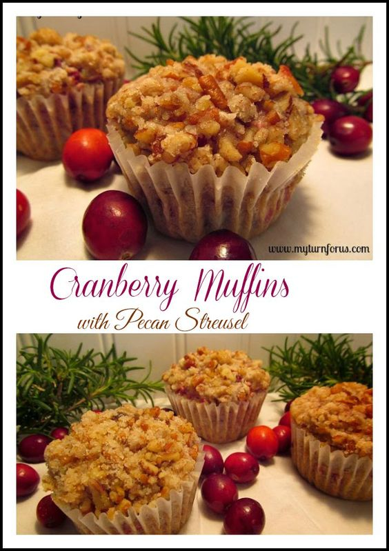 Cranberry muffins, Pecans and Cranberries on Pinterest