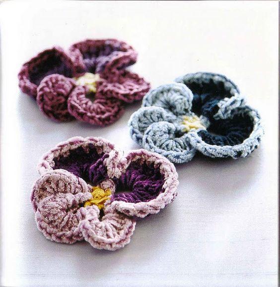 flores de ganchillo: Flores Con Patrones, Knitting Crocheting Patterns, Crafts Crochet Knitting, Crocheted Flowers, Crochet Patrones Gratis, Crochet Pattern, Crochet Flowers Leaves, Web Album