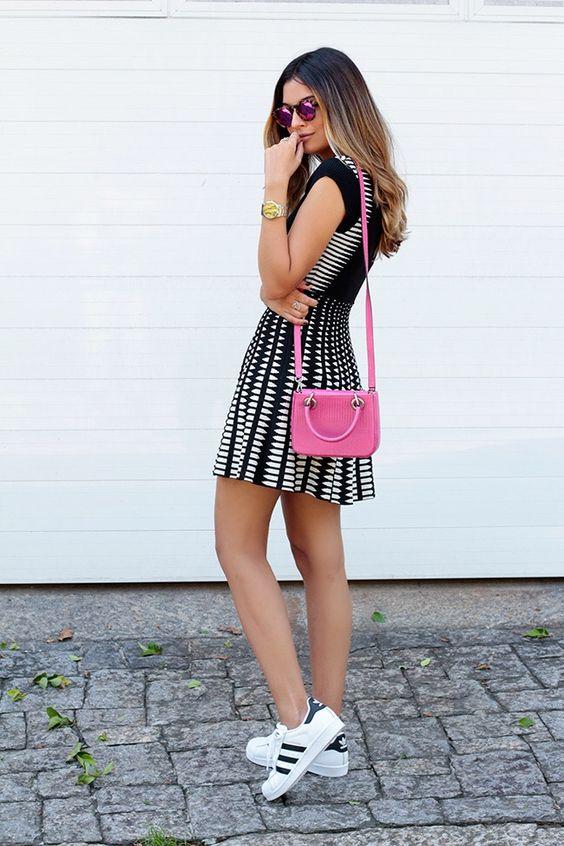 meu_look_vestido_zara_adidas_superstar_illesteva_Jessica_Velasco_glam_style: