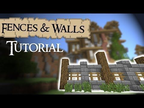 Minecraft Tutorial Medieval Fences And Minecraft Tutorial