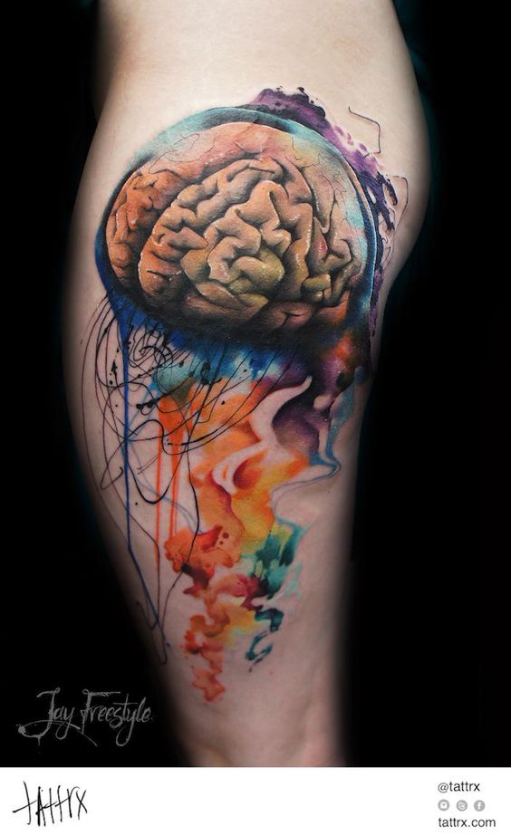 psychology brain tattoos google search tattoo pinterest jellyfish jay and search. Black Bedroom Furniture Sets. Home Design Ideas