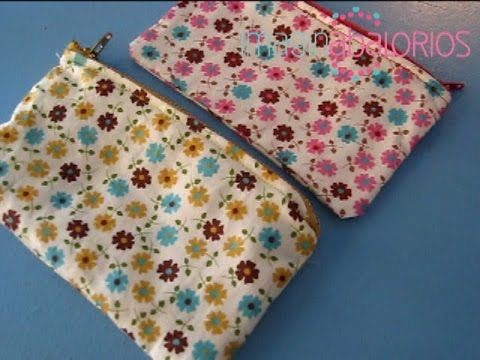 MONEDERO DE TELA TUTORIAL / LINEN WALLET TUTORIAL - YouTube