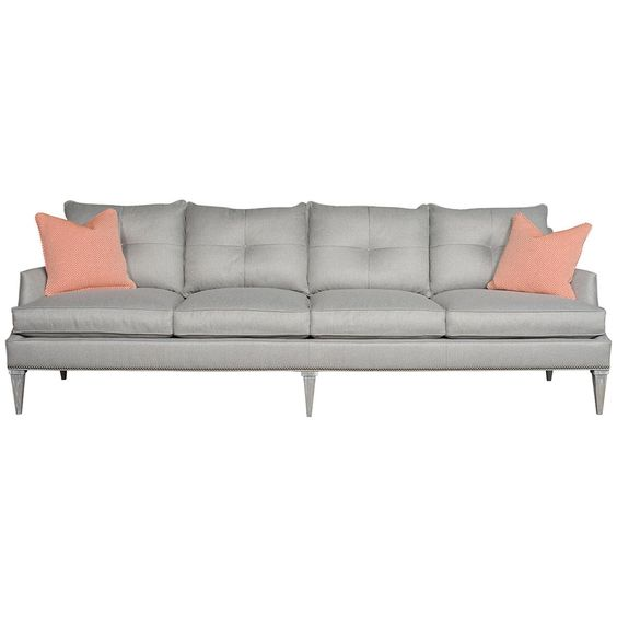 Vanguard Furniture Junction Gray Holly Extended Sofa
