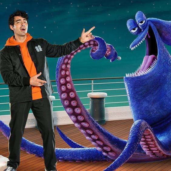 Let S Get Kraken Kids Joe Jonas Plays The Voice Of The Jazziest Kraken You Ve Ever Seen In Hotel Tra Hotel Transylvania Vacation Movie Family Summer Vacation