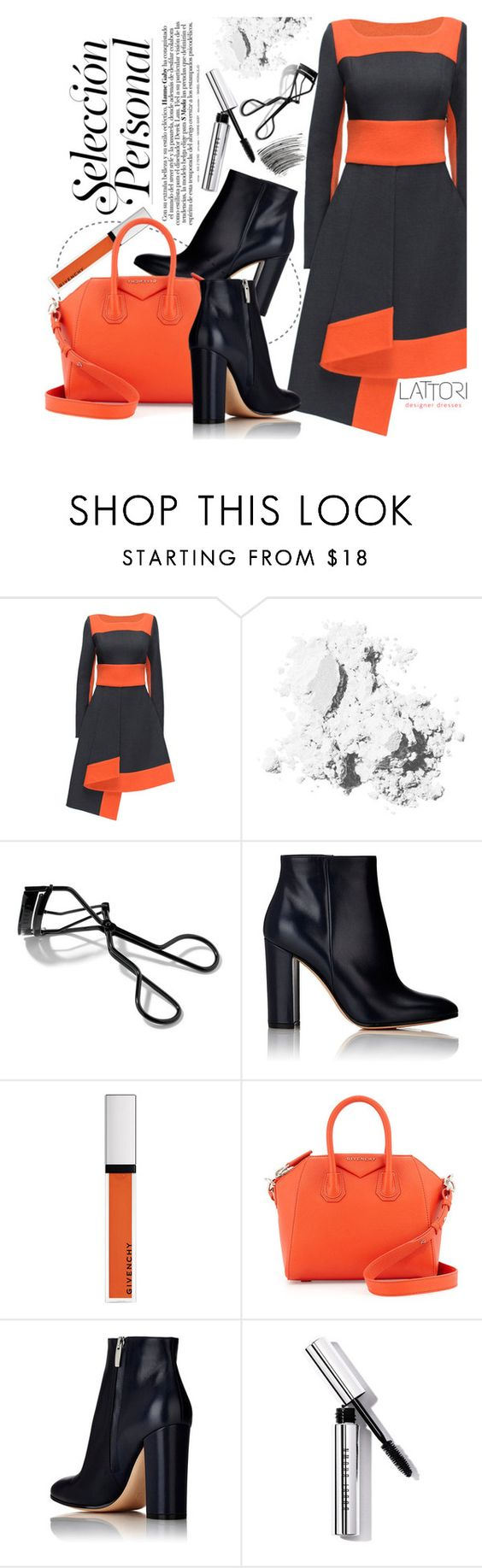 """Lattori Dress"" by pokadoll ❤ liked on Polyvore featuring moda, Lattori, Bobbi Brown Cosmetics, Gianvito Rossi, Givenchy y lattori"