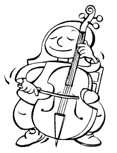 M sica pescant idees picasa web albums pictures to for Cello coloring page