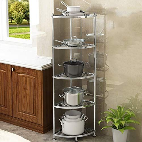 Kitchen Shelf Shelf Stainless Steel Corner Rack Organization Shelf Kitchen Shelf Kitchen Storage Racks Cookware Stand Steel Racks Storage Rack