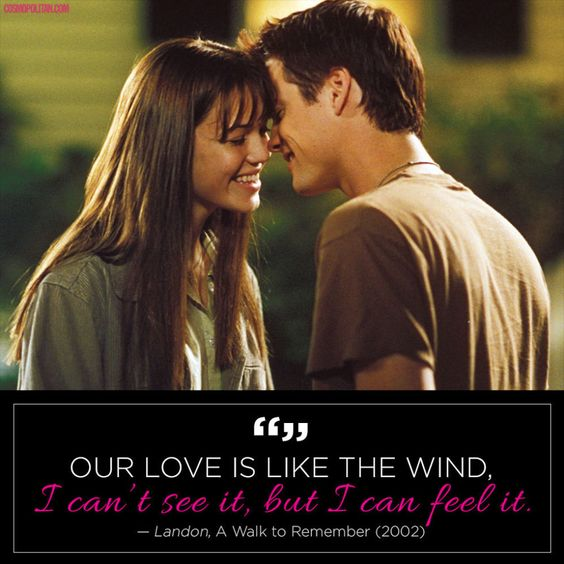 a walk to remember quotes love is like the wind - photo #20