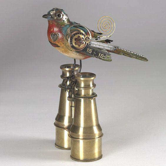 pássaros steampunk #pássaros #Steampunk