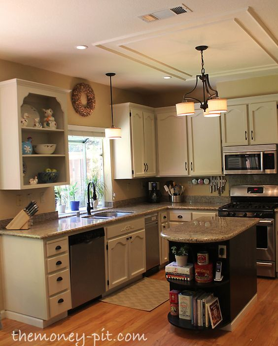 Kitchen Without Cabinets: How To Paint, Kitchen Cabinets And Cabinets On Pinterest