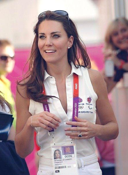 "Her ID badge says, ""HRH Duchess of Cambridge."" Appropiate."