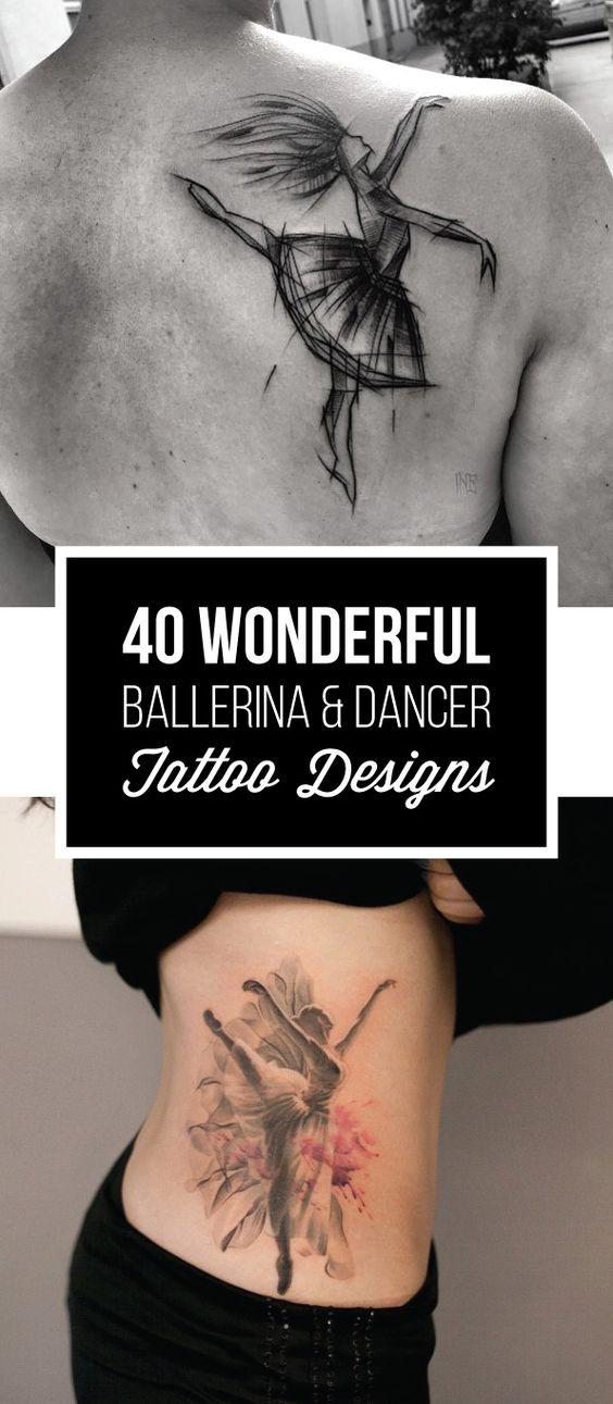 40 Wonderful Ballerina & Dancer Tattoo Designs | TattooBlend