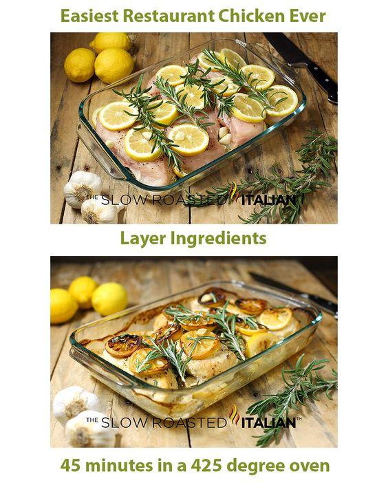 EASIEST EVER RESTAURANT CHICKEN - Rosemary Lemon Roasted Chicken Breasts #chicken #recipes #easy