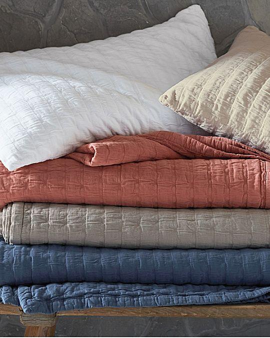 Charming Eileen Fisher Rippled Organic Cotton Coverlet And Shams | Garnet Hill |  Truman Woollett | Pinterest | Bedrooms And Master Bedroom