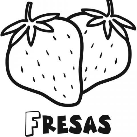 Fresa Dibujo Para Colorear Coloring Pages Cute Coloring Pages Art Lessons For Kids