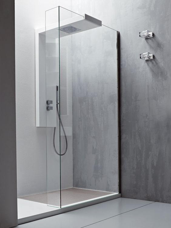 Modular glass shower wall panel ARGO by Rexa Design #bathroom ...