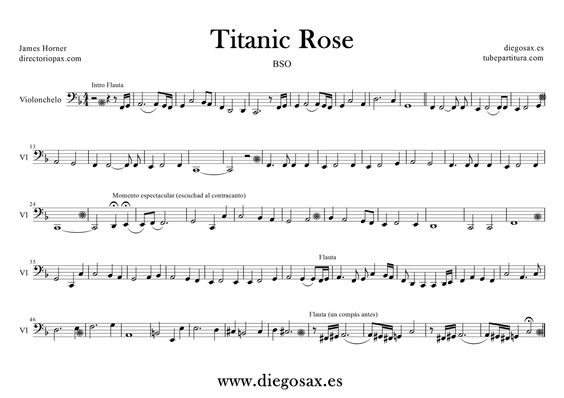 Titanic Rose: Projects, Cellonotes, Roses, Try, Para Cello