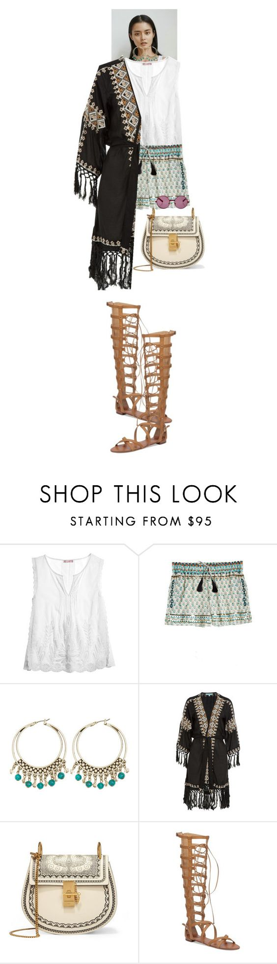 """""""Cressida #6198"""" by canlui ❤ liked on Polyvore featuring Calypso St. Barth, Calypso Private Label, Melissa Odabash, Chloé, Vince Camuto, House of Holland, GetTheLook, chic, simple and airportstyle"""