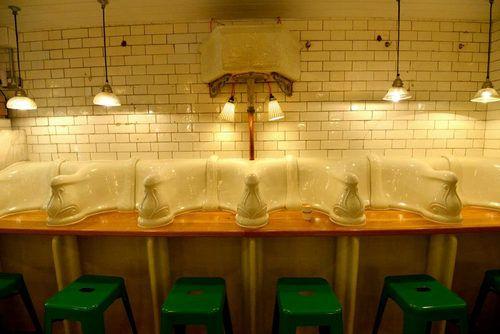 Inside Attendant, a London Deli in a Victorian Urinal