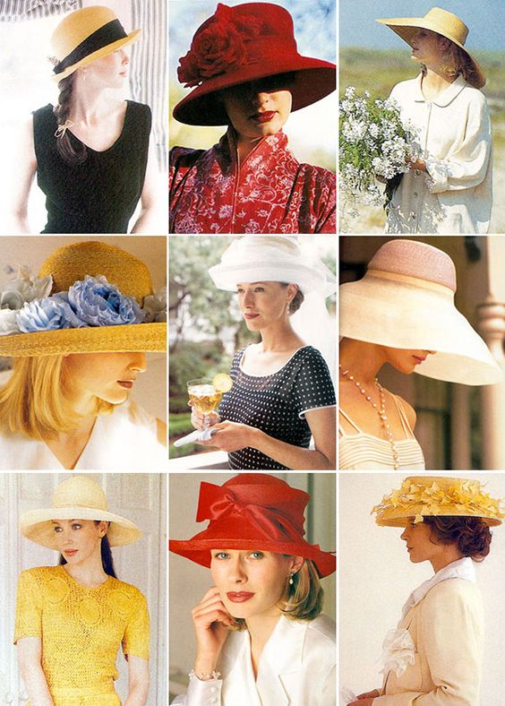 I loved the hats shown in Victoria Magazine