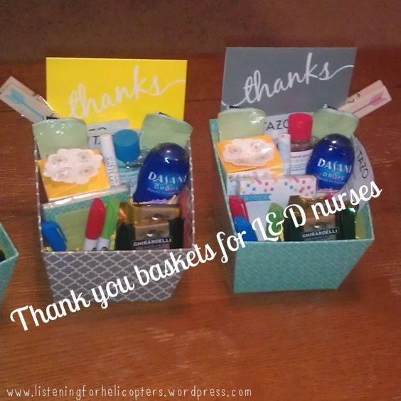 Thank You For Your Business Basket: Thank You Gifts For L Nurses. What A Neat Idea