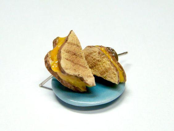 Miniature Food Earrings Food Jewelry Grilled by kawaiibuddies, $20.00