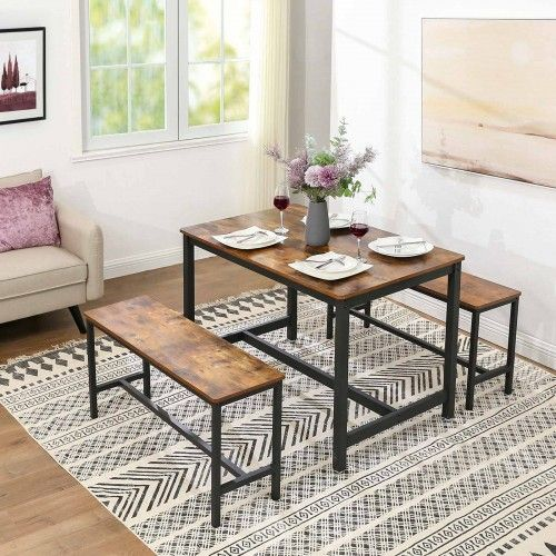 Industrial Style Dining Table Dining Table In 2021 Industrial Style Dining Table Dining Table Setting Dining Room Industrial