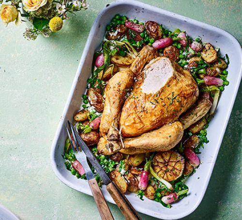 Spring One Pot Roast Chicken Bbc Good Food Recipes Pot Roast Chicken Recipes