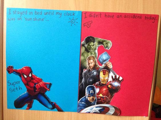 DIY superhero reward charts. Hopefully won't take long to fill these up with stickers!