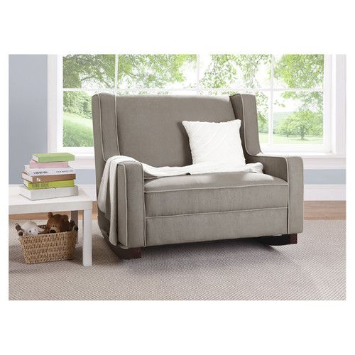 Baby Relax Rocking Loveseat in Dark Taupe