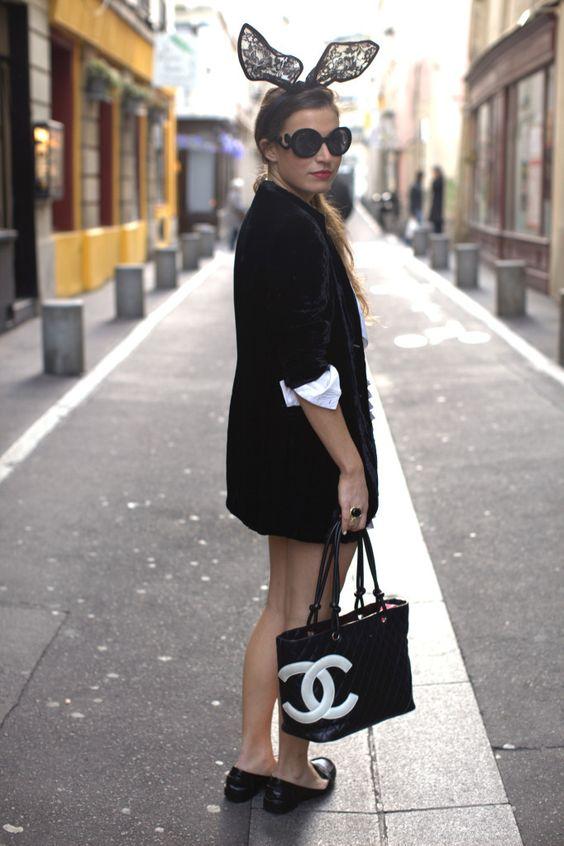 bag, bunny ears, chanel, fashion