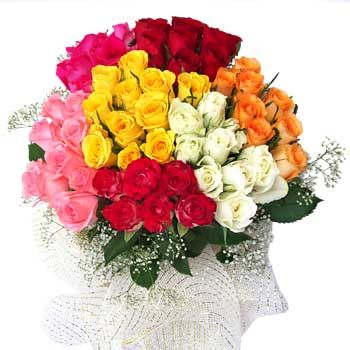 A big color boom with bloom With rainbow bunch. rainbow collect all emotions in one gorgeous bunch. Its special design for big celebration like on big festival diwali, chirstmas and new year. Avon India Florist gives 100% freshness in every product. order now: http://goo.gl/ELPXS2: