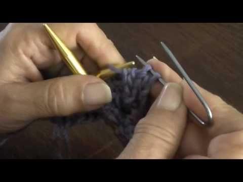 Dos agujas: trenza doble - YouTube