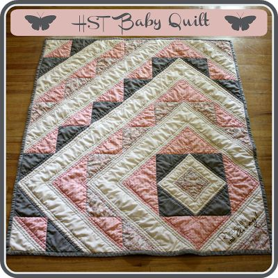 half square triangle baby quilt just one more quilt 87265
