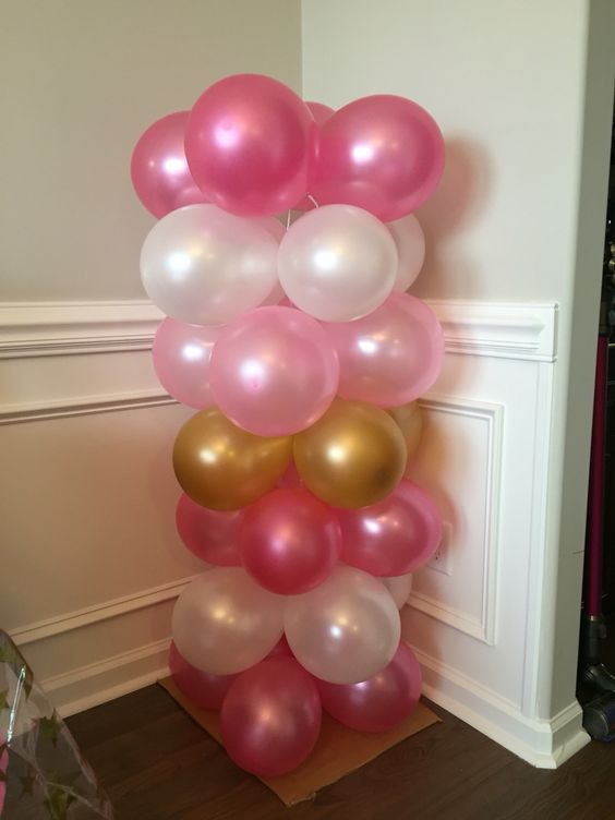 ... parties birthday parties diy and crafts silver colors we balloon tower