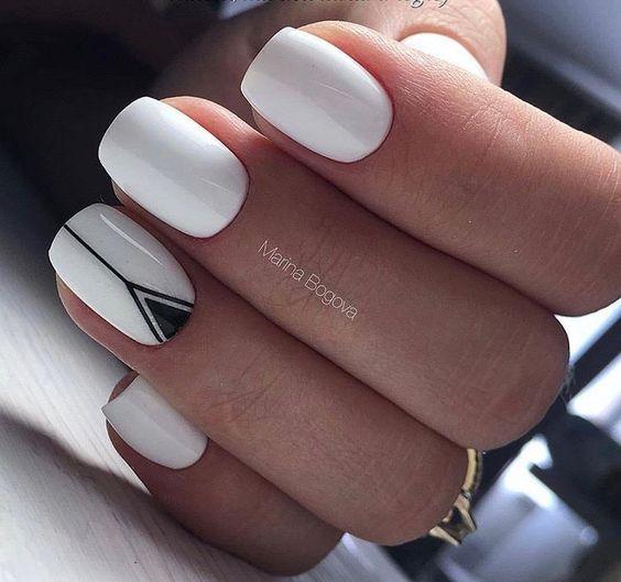 2018 50+ hottest White Matte Nail Designs