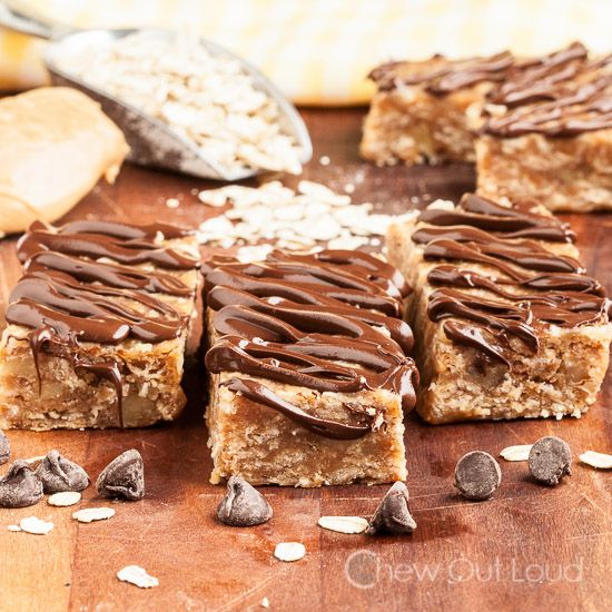 5-Ingredient Protein Bars (no-bake!) - Chew Out Loud
