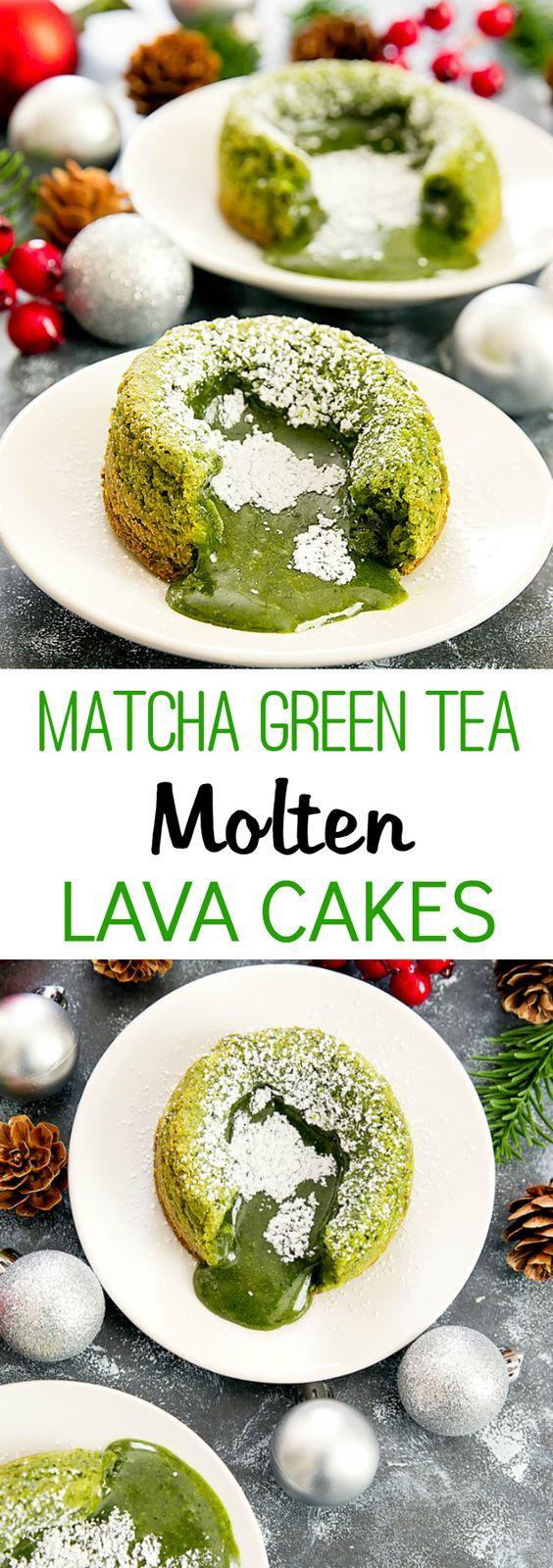 MATCHA GREEN TEA MOLTEN LAVA CAKES | Cake And Food Recipe