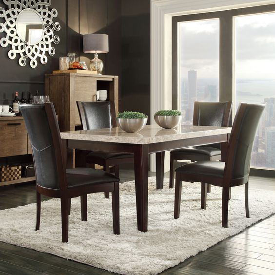 Black And Brown Dining Room Sets Amazing Inspiration Design