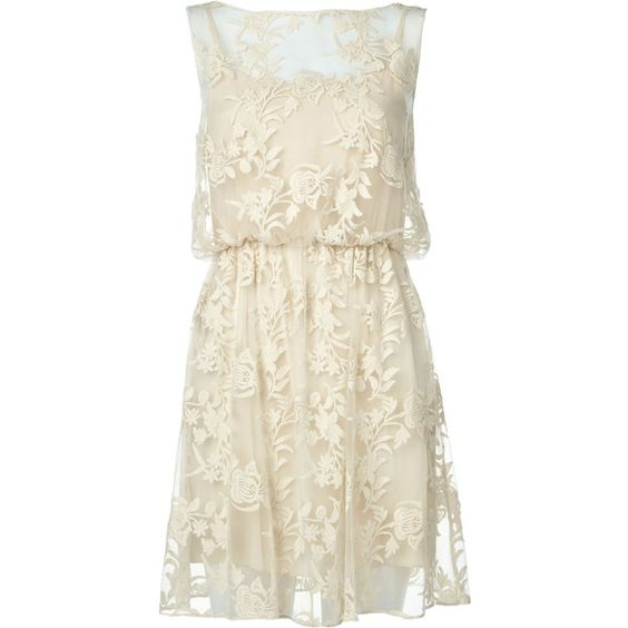 Darcy Lace Layover Dress found on Polyvore