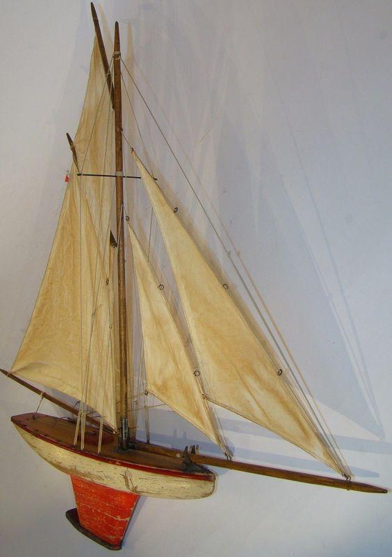 D tails sur canot de bassin bateau voilier deffain 4 voiles coque peinte 2 tons 1920 1930 ebay - Voilier de bassin ancien nanterre ...