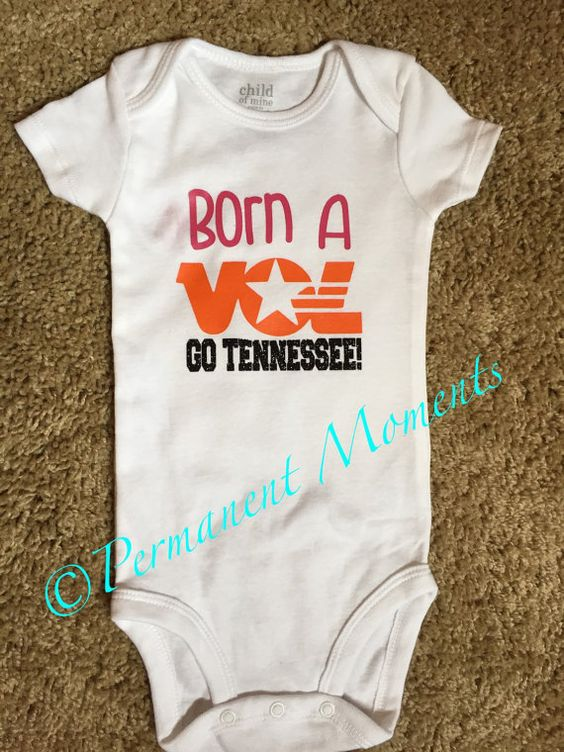 Born a Vol Tennessee Onesie Born A Fan