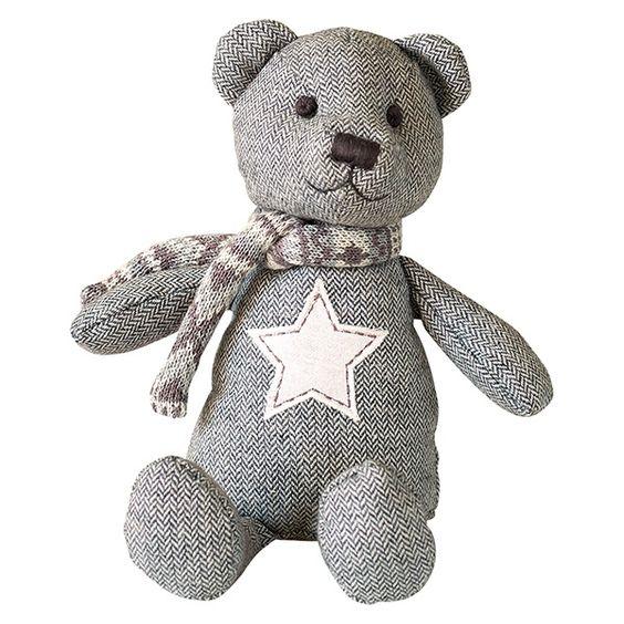 GreenGate Teddy Tweed Star Warm Grey H 29 cm