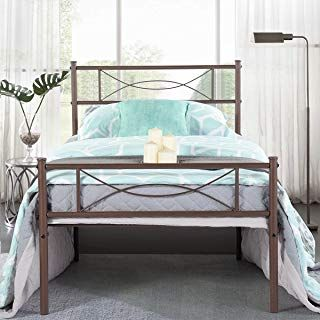 Amazon Com Twin Bed Frame With Images Twin Size Metal Bed