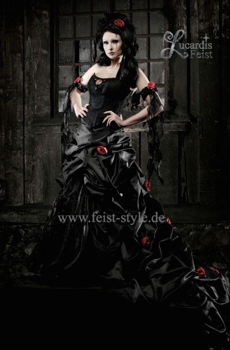 schwarzes brautkleid etwas andere hochzeitskleider pinterest dunkel. Black Bedroom Furniture Sets. Home Design Ideas